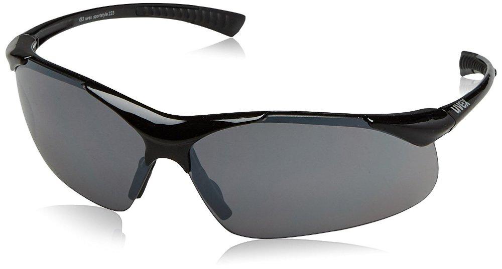 Radsport Uvex Sportstyle 223 Fahrrad Brille schwarz/grau