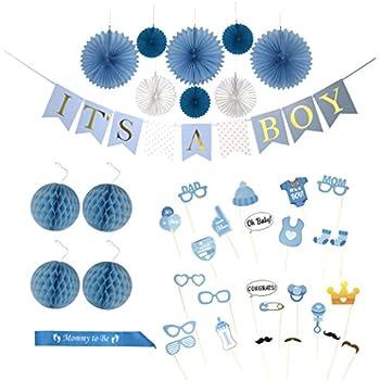 Amazon.com: Ombre blue garland, Raindrop garland, Paper