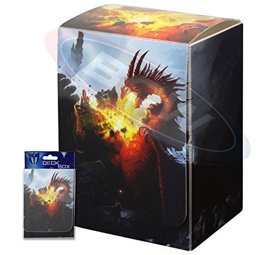 (1) Max Protection Death Grip Design Deck Armor Trading Card Deck Box Holder Fits 80 Sleeved Cards with Free Index Divider Board for Magic the Gathering, Pokemon, World of Warcraft, Kaijudo Duel Masters, Yu-Gi-Oh!, and Cardfight Vanguard Cards