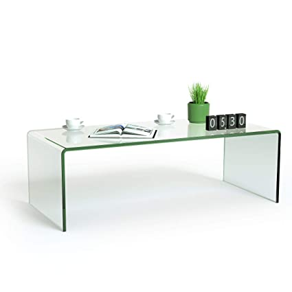 Material Coffee Table.Tangkula Glass Coffee Table Modern Home Office Furniture Clear Tempered Glass End Table International Occasion Tea Table Waterfall Table With Rounded