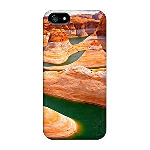 Awesome Green River Nature Flip Case With Fashion Design For HTC One M8 Phone Case Cover