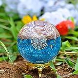 Orgonite Crystal Blue Aquamarine Crystal Ball