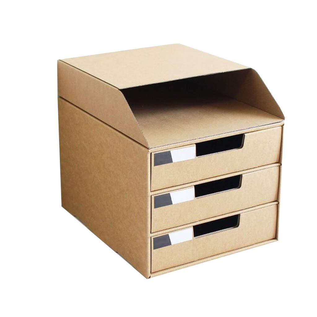 Archivadores HUXIUPING Storage Box File Information Desktop ...