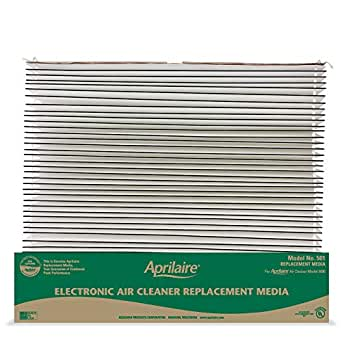 Aprilaire 501 Replacement Air Filter for Aprilaire Whole House Electronic Air Purifier Model: 5000, Allergy, Asthma, & Virus Filter, MERV 16 (Pack of 2)