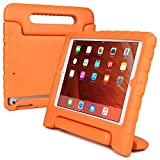 iPad Air kids case, COOPER DYNAMO Heavy Duty Children's Rugged Tough Bumper Hard Protective Case Cover with Built-in Handle, Stand & Free Screen Protector for Apple iPad Air (Orange)