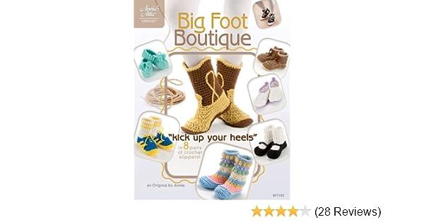 Big Foot Boutique Slippers Crochet Pattern Book  Annie/'s Attic