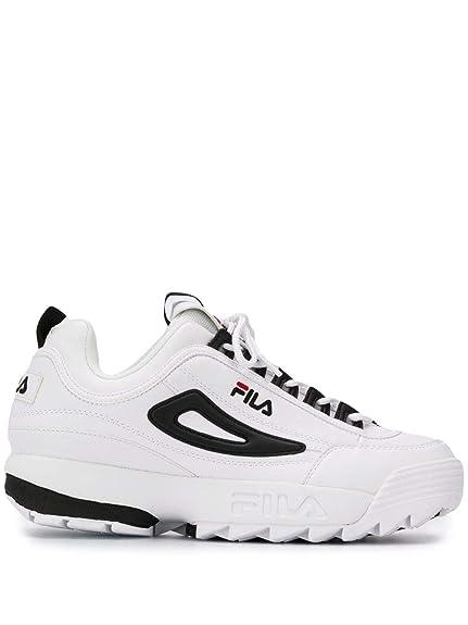 Fila Hombre 101057500E Blanco Cuero Zapatillas: Amazon.es: Zapatos y complementos