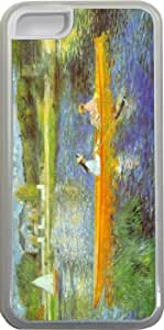 LJF phone case Rikki KnightTM Pierre-August Renoir Art The Seine Design iphone 4/4s Case Cover (Clear Rubber with bumper protection) for Apple iphone 4/4s