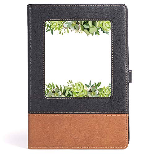 Thick Notebook/Journal - Succulent - Business Notepad Daolin Paper - Cactus Flower Garden Green Fern Seasonal Branch and Leaves Frame Borders Decorative - 100 Ruled Sheets - A5/6.04x8.58 - Leaves Border Fern
