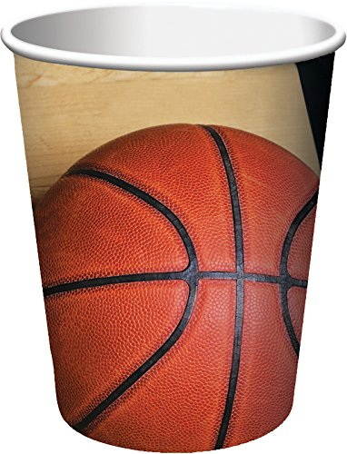 - Creative Converting 8 Count Sports Fanatic Basketball Hot/Cold Cups, 9 oz, Multicolor