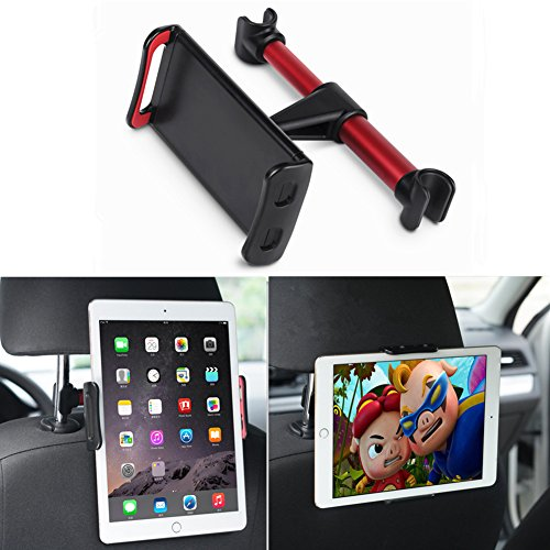 Car Headrest Mount, DLIUZ Universal Car Seat Tablet Mount Holder for iPad, Samsung Galaxy, Nintendo Switch, Fits all 4 - 10.5 Smartphones and Tablets (Red)