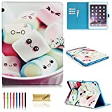 iPad Mini 4 Case - Dteck Cartoon Cute Pattern [Anti-Scratch] Folio PU Leather Case with [Card Slots] Smart Stand Full Body Protective Case for iPad Mini 4 Model A1538 - Lovely Candy