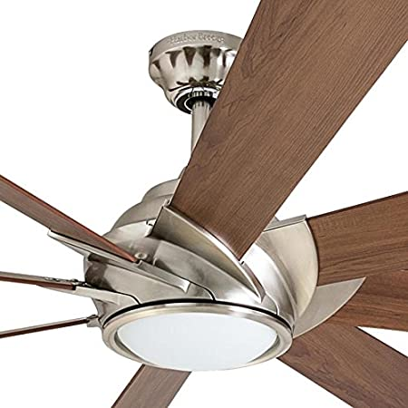 Harbor Breeze Hydra 70-in Brushed Nickel LED Indoor Downrod Mount Ceiling on