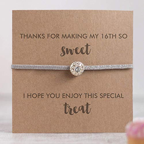 Sweet sixteen favors for guests, sweet 16 thank you favors, 16th birthday favors for girls, silver]()