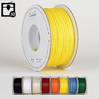 Smartbuy 1.75mm Bright Yellow ABS 3D Printer Filament - 1kg Spool / Roll (2.2 lbs) - Dimensional Accuracy +/- 0.05mm