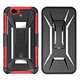 Nexus 6P Case,Lantier Designed [Heavy Duty Robot] [Military Defender] Black Armor Premium Belt Clip Holster Kickstand Bumper for Google Nexus 6P Blue