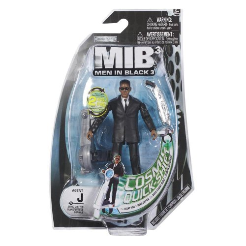 Men In Black 3 - Figure with Small Accessory - AGENT J & Sonic Drifter (4 - Agent 3 Black Men J In