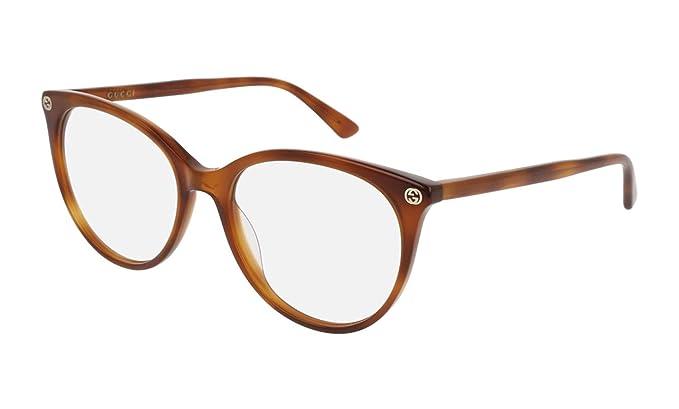373049f94e Gucci Montura de gafas - para mujer marrón Havana: Amazon.es: Ropa y  accesorios