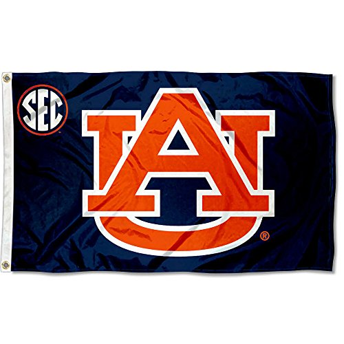 (College Flags and Banners Co. Auburn Tigers SEC 3x5 Flag)