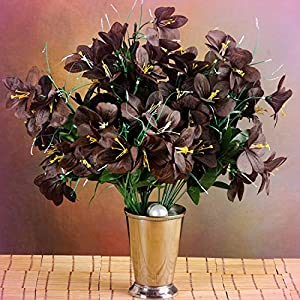 Inna-Wholesale Art Crafts New 6 Chocolate Brown Bushes Silk Mini PRIMROSES Decorating Flowers Bouquet Decorations - Perfect for Any Wedding, Special Occasion or Home Office D?cor 76