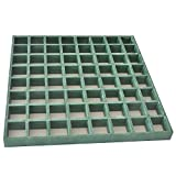 Eco Pultrusions FRP Molded Grating 12 Inchx12 Inchx1 Inch Green 3 Pack