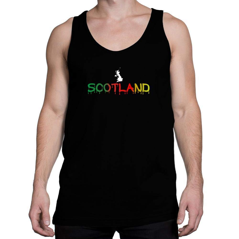 Idakoos Dripping Scotland Tank Top
