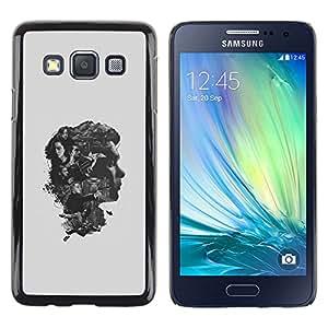 A-type Arte & diseño plástico duro Fundas Cover Cubre Hard Case Cover para Samsung Galaxy A3 (Los pensamientos del cerebro)