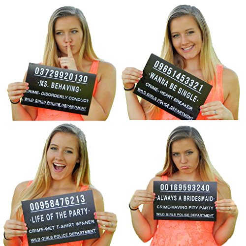 24 Funny Mug Shot Signs For Bachelorette Party Bridal Shower and Wild Girls Birthday By BD Arts And Parties (24)
