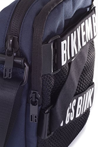 Bikkembergs Borsa Tracolla Uomo Messenger Blue Navy Black