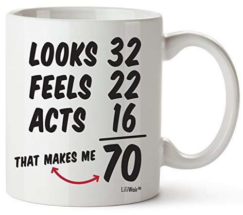 - 70th Birthday Gifts For Women Seventy Years Old Men Gift Mugs Happy Funny 70 Mens Womens Womans Wifes Female Man Best Friend 1949 Mug Male Unique Ideas 49 Woman Wife Gag Dad Girls Guys Good Husband