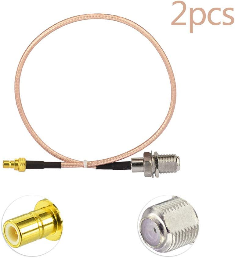 DHT Electronics RF coaxial coax adapter SMB female to F female for XM Sirius Satellite Radio