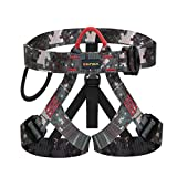 kissloves Half Body Climbing Harness Outdoor Rock Climbing Momentum Harness for Fire Rescue Working on The Higher Level Caving Rock Climbing Rappelling Equip (Green)