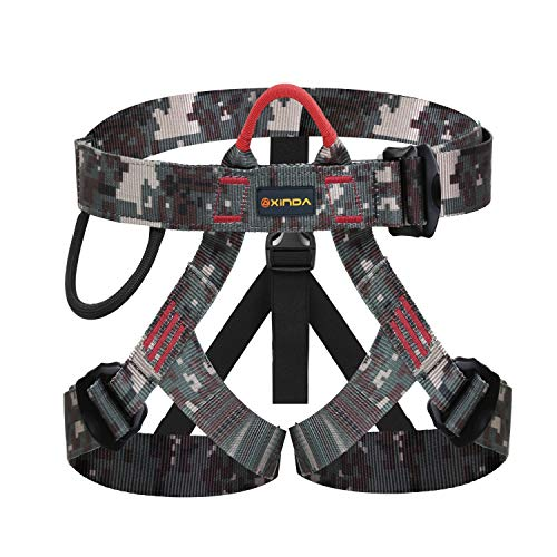 kissloves Half Body Climbing Harness Outdoor Rock Climbing Momentum Harness for Fire Rescue Working on The Higher Level Caving Rock Climbing Rappelling Equip