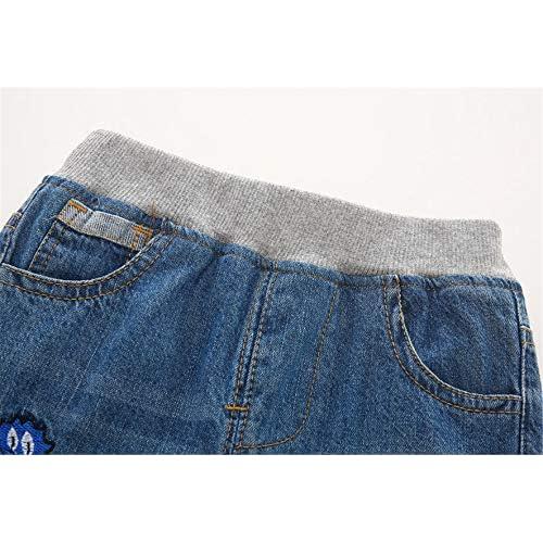QZH.DUAO EMAOR Unisex Kids Baby Elastic Waist Ripped Holes Denim Pants Jeans /& Shorts 18Months 8Years