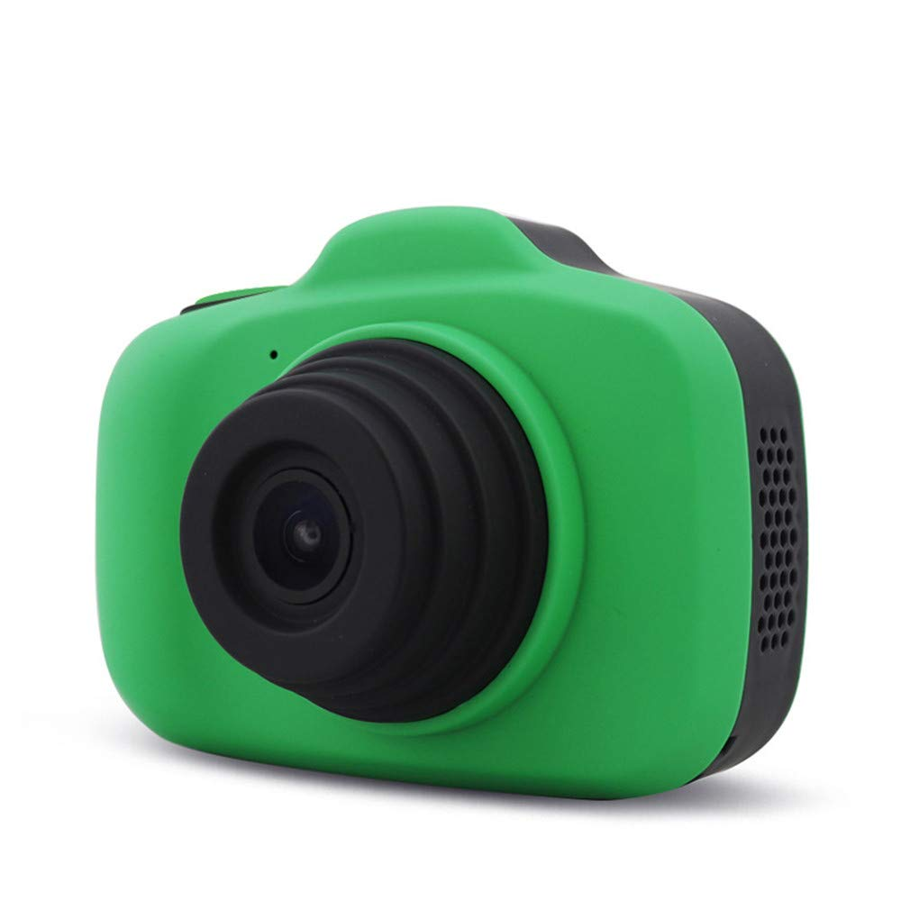 Kids Digital Camera with USB Charging Cable, 2.3'' HD Screen 1200W Pixels Video Timing Automatic Camera Soft Shockproof Children Toy (Green) by LQKYWNA