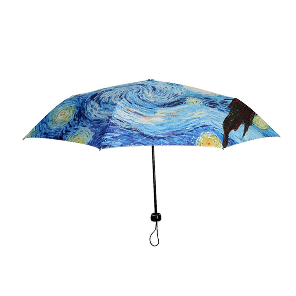 Paraguas plegable MyLifeUNIT con diseño de pintura de Van Gogh: Amazon.es: Equipaje