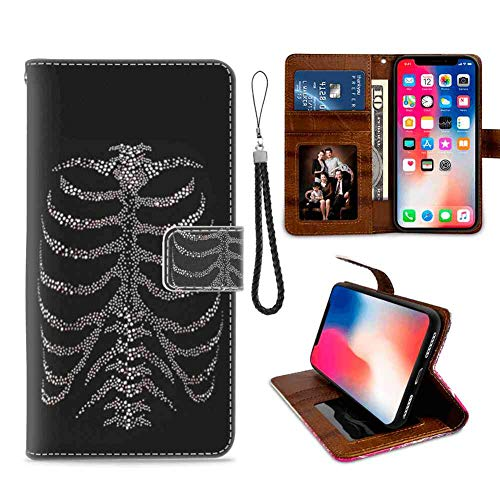 Skeleton Wallet Case Fit iPhone Xr [6.1inch] with Card Holder