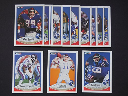 New York Giants 1990 Fleer Football Team Set (Premier Issue) (Super Bowl Champions) (Jeff Hostelter Rookie) (Phil Simms) (Lawerence Taylor) (Mark Bavaro) (Carl Banks) (Dave Meggett) and More ()