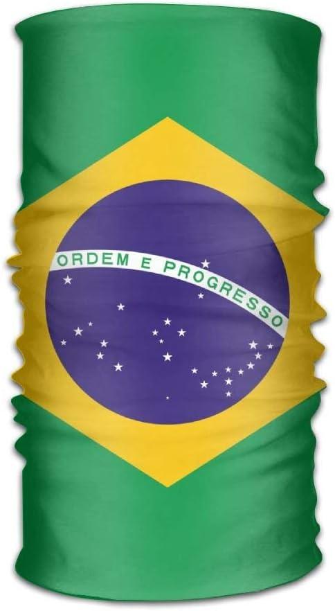 AllenPrint Diademas Unisex Bandera de Brasil Sombreros Pañuelo mágico Cuello Bufanda Máscara Moda Banda de Sudor Envoltura para Exterior: Amazon.es: Deportes y aire libre