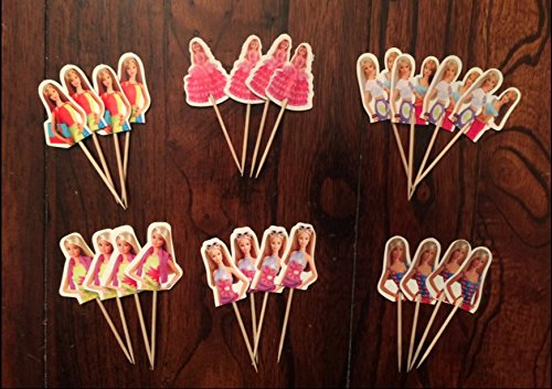 Barbie Cupcake Toppers Birthday Party Supplies SET OF 24