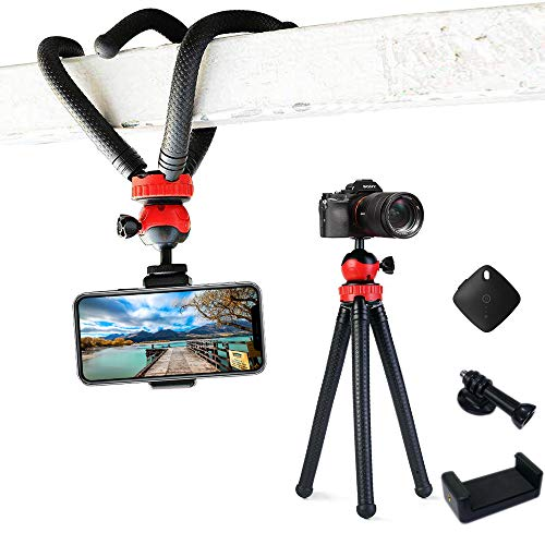 Spider Mount Frame - Flexible Tripod,12 Inch Phone Tripod with Wireless Remote Shutter for iPhone and Android Phone, Action Camera Tripod for GoPro Canon Nikon DSLR