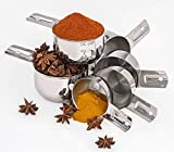 Stainless Steel Measuring Cups Set - Stackable 6 Pieces By Superb Chefs.