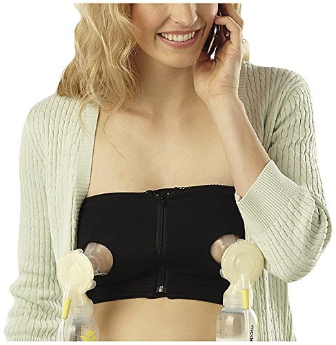 Medela Easy Expression Hands-Free Bustier, Large, Black