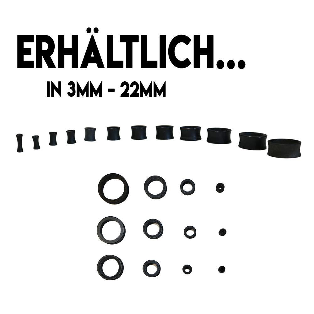 eeddoo Holz - Flesh Tunnel - Schwarz - Ahorn - 10 mm (Piercing Organic Tunnel Ohr Plug für gedehnte Ohren Lobes Tubes): Amazon.es: Joyería