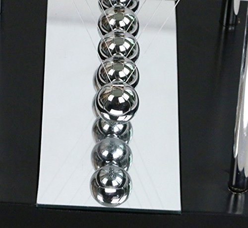 BOJIN Mirror Newton's Cradle Balance Ball Science Kinetic Energy Sculpture - Medium Mirror by BOJIN (Image #5)