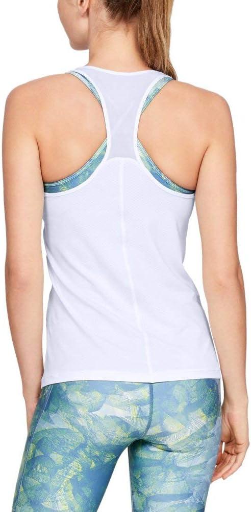 bequemes Sportshirt mit enganliegender Passform Ua HeatGear Racer atmungsaktives Sportoberteil f/ür Frauen Under Armour Damen