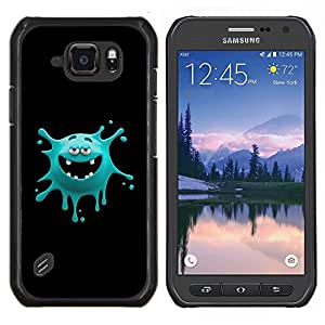 "For Samsung Galaxy S6 active / SM-G890 , S-type Cara divertida del monstruo"" - Arte & diseño plástico duro Fundas Cover Cubre Hard Case Cover"