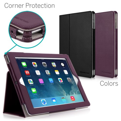 CaseCrown Bold Standby Pro Case (Purple) for iPad 4th Generation with Retina Display, iPad 3 & iPad 2 with Sleep / Wake, Hand Grip, Corner Protection, & Multi-Angle Viewing -