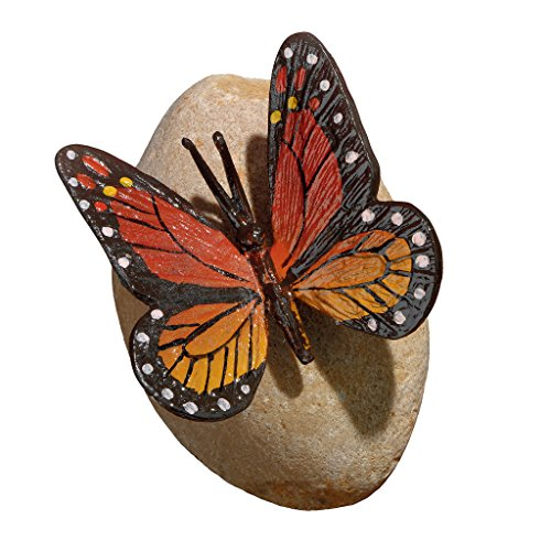 (Design Toscano MP7486 Viceroy Monarch Butterfly on Rock Statue)