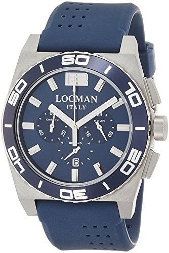 LOCMAN watch stealth Mare quartz chronograph rotating bezel Men's 0212 021200BA-BLBSIB Men's [regular imported goods]